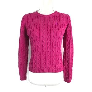 Lilly Pulitzer Cable Knit Sweater hot pink